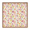 Genevieve Florals Pink Square Tray