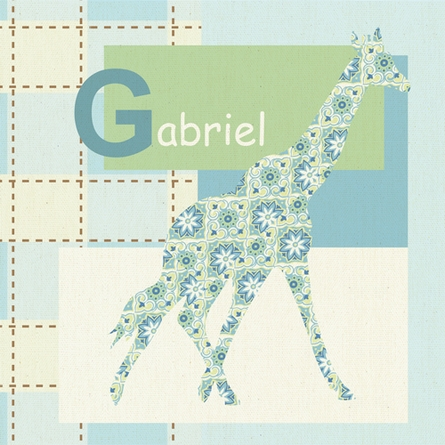 Gentle Giraffe Canvas Wall Art