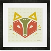 Geo Animals Fox Framed Art Print