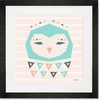 Geo Animals Owl Framed Art Print