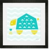 Geo Animals Turtle Framed Art Print