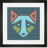 Geo Animals Wolf Framed Art Print