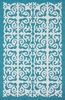 Geo Indoor/Outdoor Rug in Aqua