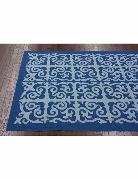 Geo Indoor/Outdoor Rug in Blue