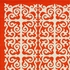 Geo Indoor/Outdoor Rug in Orange