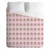 Geo Owl Print Pink Luxe Duvet Cover
