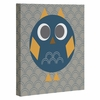 Geo Owl Solo Blue Wrapped Canvas Art