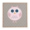 Geo Owl Solo Pink Framed Wall Art