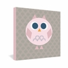 Geo Owl Solo Pink Wrapped Canvas Art