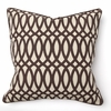 Geo Print Brown Throw Pillow