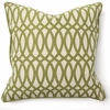 Geo Print Green Throw Pillow