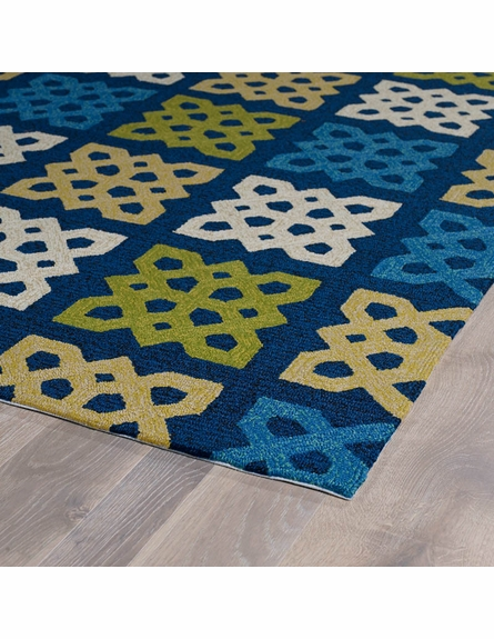Geo Tiles Indoor/Outdoor Rug in Blue