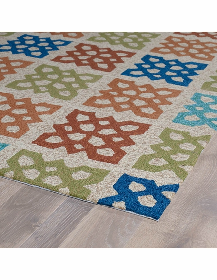 Geo Tiles Indoor/Outdoor Rug in Sand