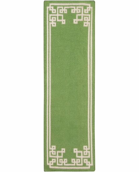 Geometric Border Alameda Rug in Apple