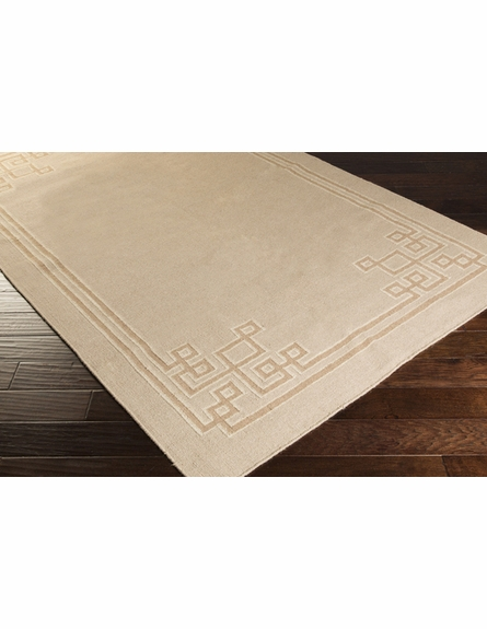 Geometric Border Alameda Rug in Ash