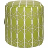 Geometric Circle Tall Pouf in Green