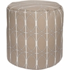 Geometric Circle Tall Pouf in Natural