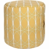 Geometric Circle Tall Pouf in Yellow