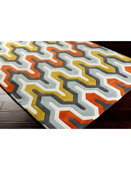 Geometric Cosmopolitan Rug in Orange