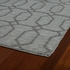 Geometric Imprints Modern Rug in Gray