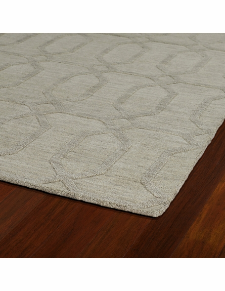 Geometric Imprints Modern Rug in Oatmeal