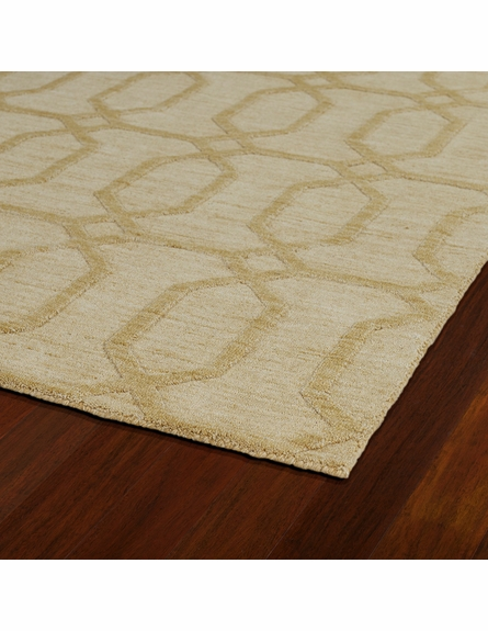 Geometric Imprints Modern Rug in Yellow