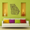 Georgia Map Wooden Wall Art