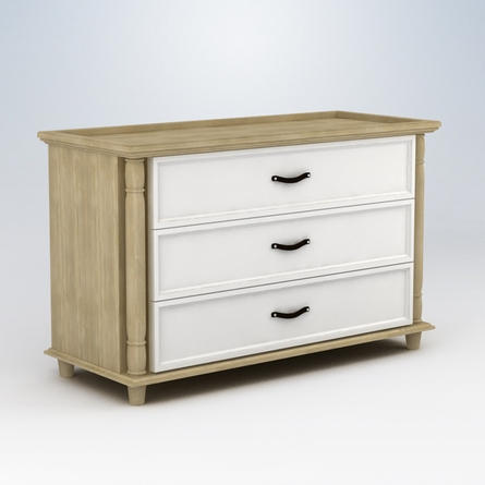 Georgian 3 Drawer Dresser