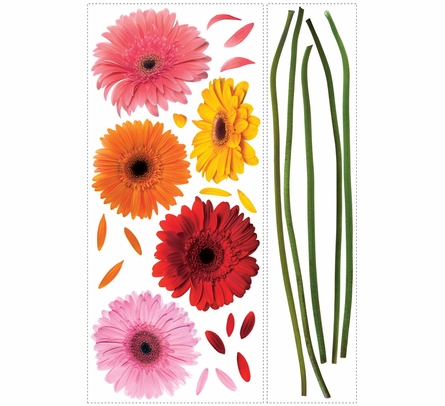 Gerber Daisies Giant Peel & Stick Applique