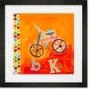 Get Movin Bike Framed Art Print