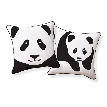 Giant Panda Reversible Throw Pillow