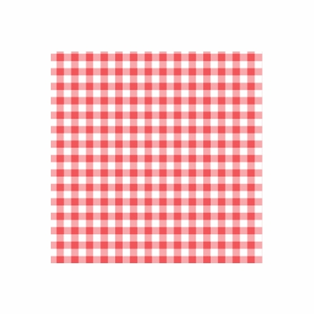 Giddy Gingham Removable Wallpaper in Apple Red