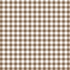 Giddy Gingham Removable Wallpaper in Bear Brown