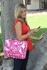 GigaBe Laptop Bag in Fuchsia Blossoms