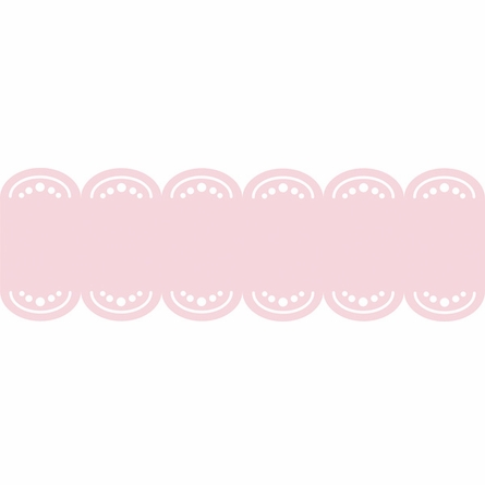 GiGi Pink Baby Scalloped Stripe Wall Decal