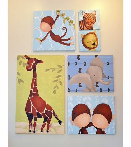 Gillespie Giraffe Canvas Wall Art