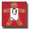 Gingerbread Man Cardinal Picture Frame