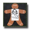 Gingerbread Man Coal Picture Frame