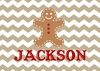 Gingerbread Man Personalized Christmas Puzzle