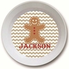 Gingerbread Man Personalized Melamine Bowl