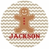 Gingerbread Man Personalized Melamine Plate
