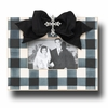 Gingham Coal Picture Frame