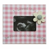 Gingham Flower Sonogram Frame