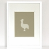 Gingham Rooster Art Print