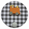 Gingham Train Wall Pegs - Set of 2