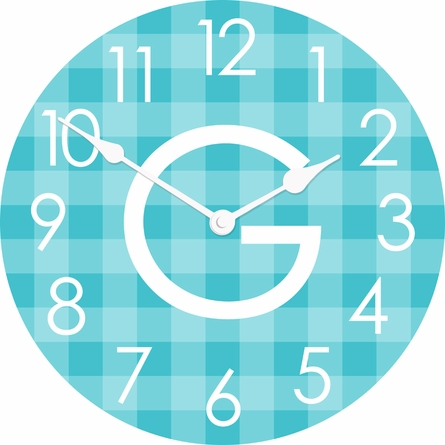Gingham Wall Clock