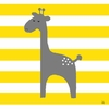 Giraffe and Stripes Canvas Wall Art