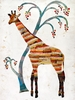 Giraffe and Tree Canvas Wall Art
