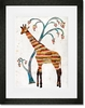 Giraffe and Tree Framed Art Print