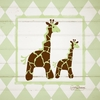 Giraffe Argyle Canvas Wall Art